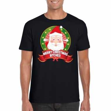 Foute kerst t-shirt merry christmas bitches voor heren 10125365