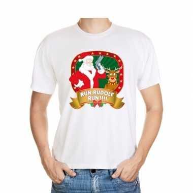 Foute kerst t shirt run rudolf voor heren
