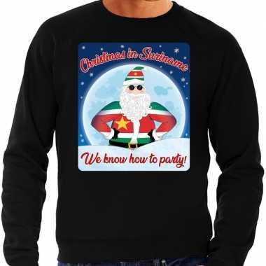 Foute kersttrui christmas in suriname zwart voor heren