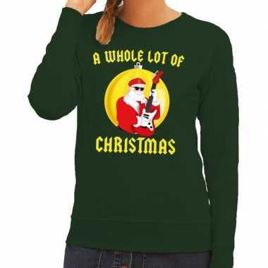 Foute kersttrui groen a whole lot of christmas voor dames
