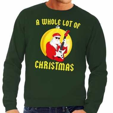 Foute kersttrui groen a whole lot of christmas voor heren