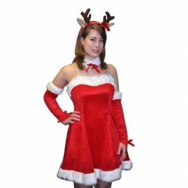 Kerstjurkje rudi met rendier diadeem voor dames