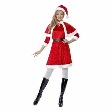Kerstjurkje voor dames met cape