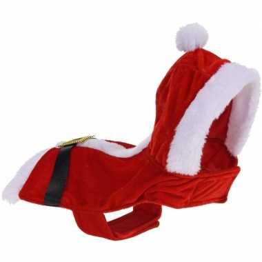 Kerstkleding jasje voor kleine honden/hondjes 34 cm