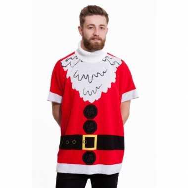 Kersttrui kerstman heren poncho
