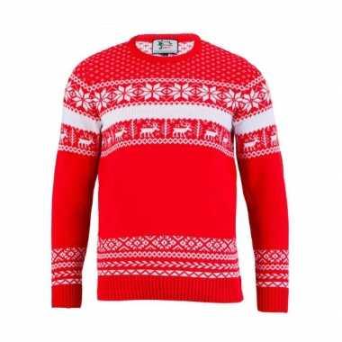 Kersttrui the red nordic voor heren