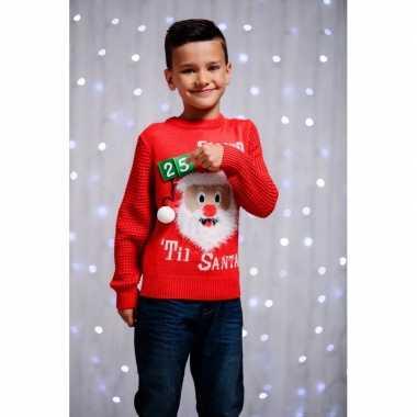 Kersttrui voor kinderen 3d aftel kalender