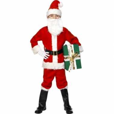 Kinder kerstman kerstkleding luxe