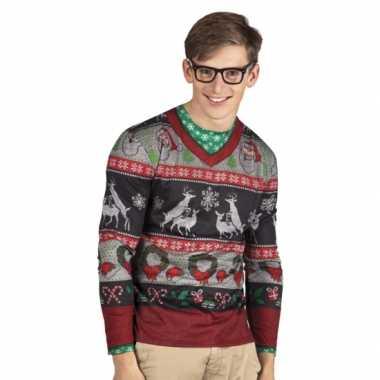 Shirt kerst opdruk heren