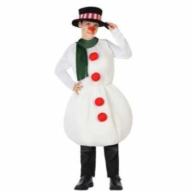 Sneeuwpop kerstkleding voor kinderen