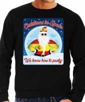 Foute spanje kersttrui christmas in spain zwart voor heren