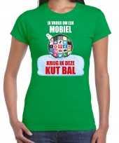 Kut kerstbal shirt kerstkleding ik vroeg om een mobiel krijg ik deze kut bal groen voor dames