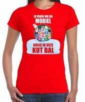Kut kerstbal shirt kerstkleding ik vroeg om een mobiel krijg ik deze kut bal rood voor dames
