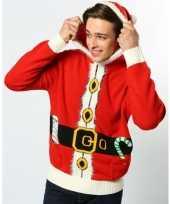 Rode hooded kersttrui